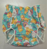 Free Shipping NICEDIAPER2221 Bear Diaper Cover Waterproof Trousers Incontinence Products ABDL