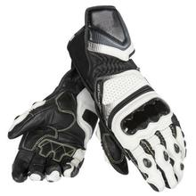Motorcycle Off-road Racing Dain Carbon D1 Gloves Long Leather Men's Gloves Black/White/Red цена