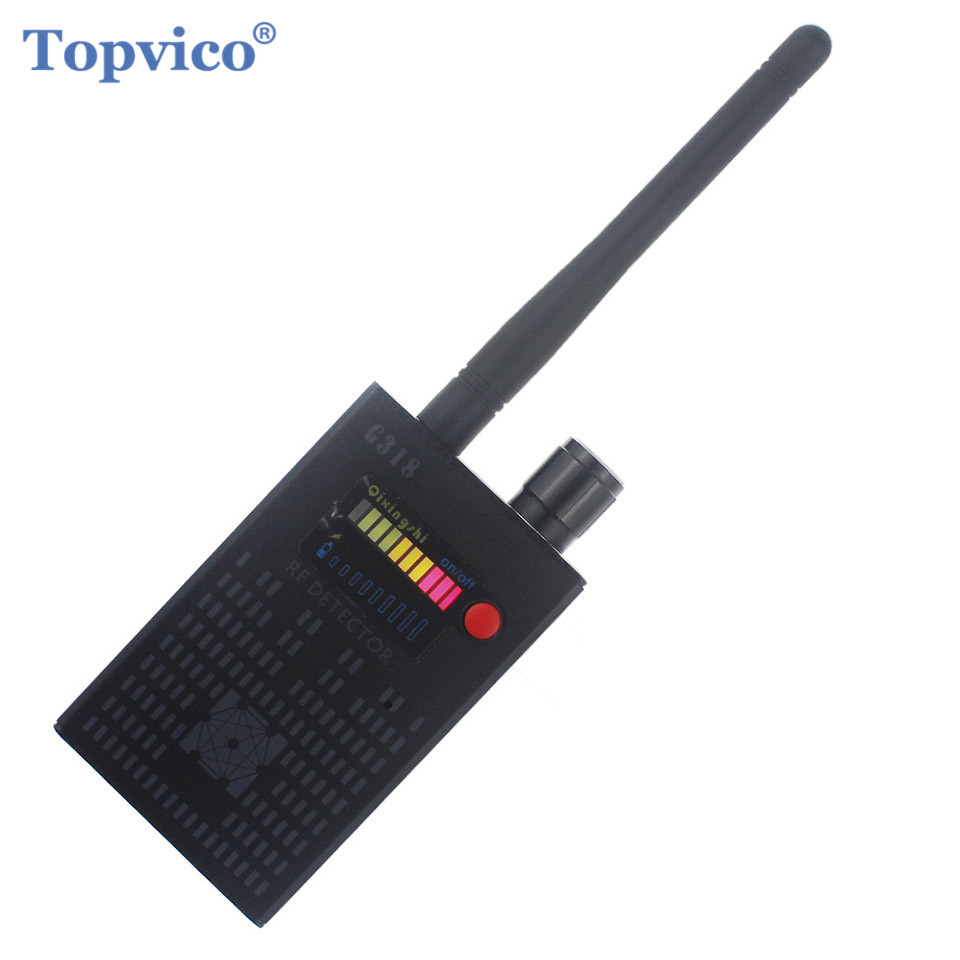 Topvico Full Range Pro Anti - Spy Bug Detector Wireless Camera Hidden Signal GPS RF GSM Devices Finder Privacy Protect Security