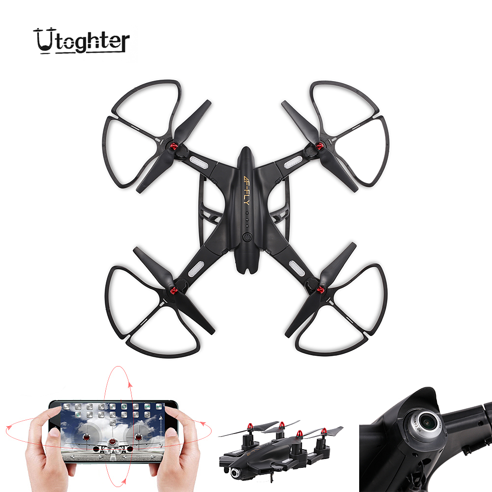 Utoghter 69508 2.0MP Wide-angle Camera Wifi FPV Foldable RC Drone 2.4G 4CH 6-Axis Gyro G-sensor Selfie Drone RTF Quadcopter генератор бензиновый зубр зиг 1200
