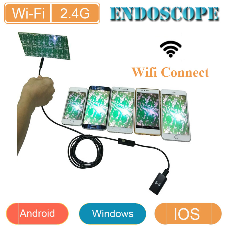 Wifi endoscope for IOS and Android Device 8mm lens 720P