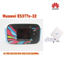 huawei e5377s-32,150mbps with sim card slot 4g lte wireless router+4g TS9 antenna 35dbi