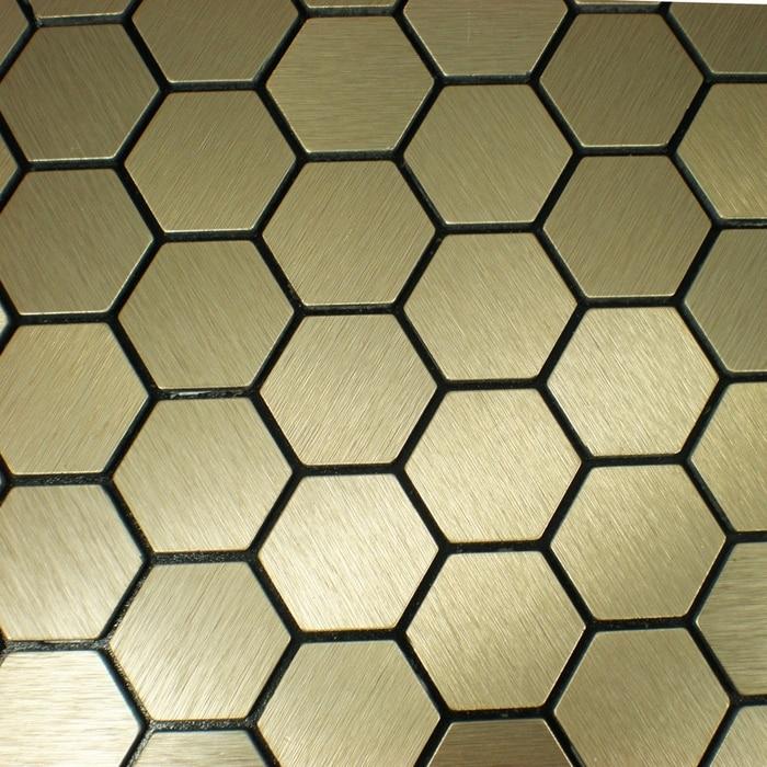 ⓪Auto adhesiva de aluminio compuesto mosaico azulejos cocina ...