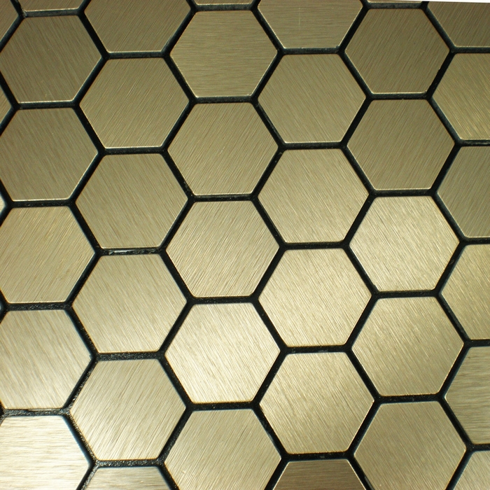 self <font><b>adhesive</b></font> Aluminum composite mosaic <font><b>tiles</b></font> kitchen backsplash hexagon pattern HME8607 Free Shipping