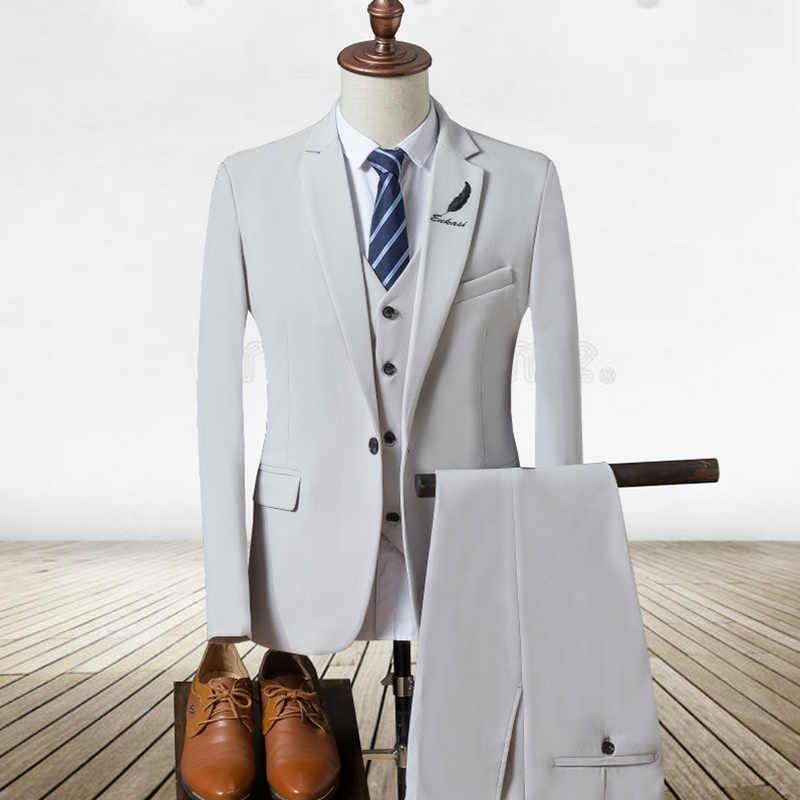 0bef75c8bd1 2017 New Mens Suits White Luxury Brand Suit Men Tuxedo Party Mens Dress Suit  3 Pieces