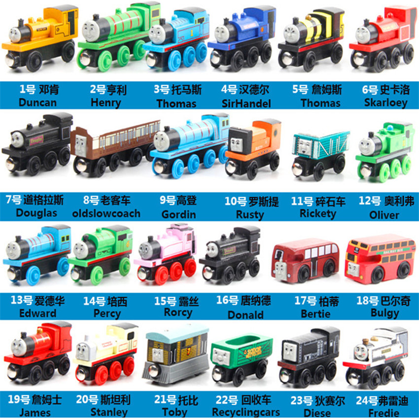 Wooden Toy Vehicles Great Kids Christmas Toys Thomas And His Friends Wood Trains Model Toy Gifts for Boys Girls Magnetic Train