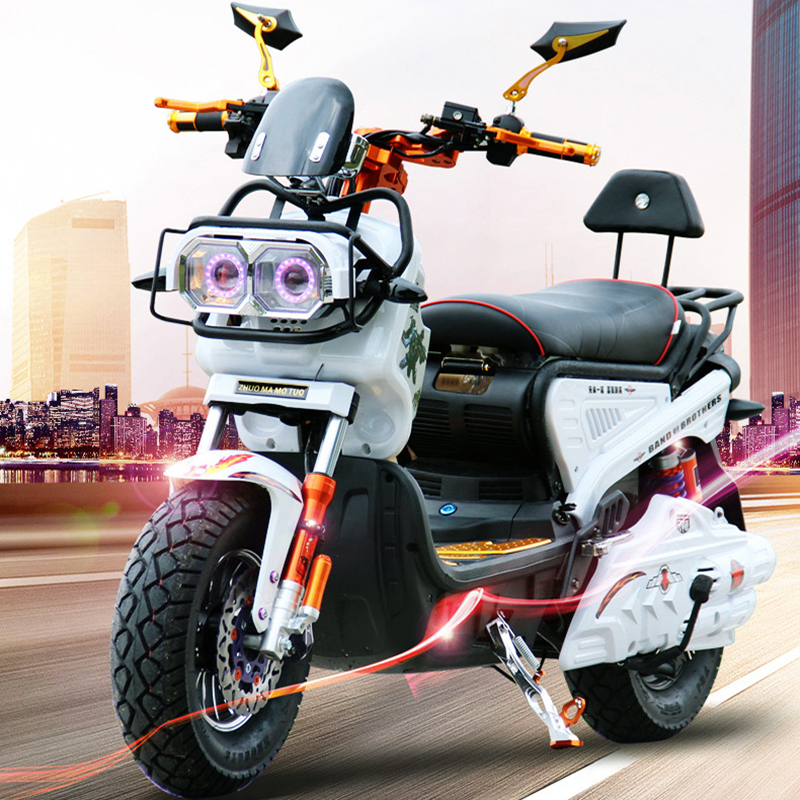 Adult electric motorcycle electric sports car electric bike citycoco 72V20A battery pedal personalityelectric motorcycles