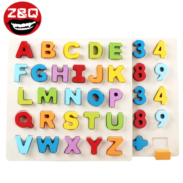 z q wood letter blocks creative bricks toys for children educational