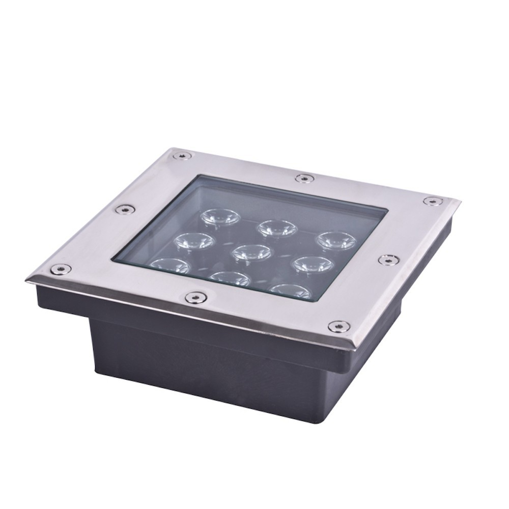 ФОТО Underground Light  Square 9W LED shape waterproof outdoor lamp optional light color Decoration or Instruct buried lighting