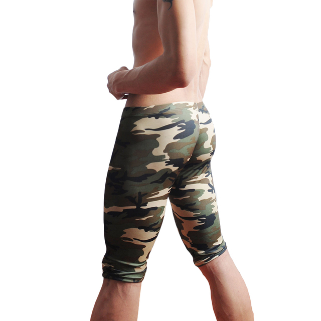 camouflage mens cargo pants fashion sexy camouflage dress camouflage Male Middle Pants Elastic Waist Design M02-2 3