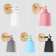 Simple Creative Wall Light LED Bedroom Bedside Baby Room Decoration Nordic Designer Living Corridor Hotel Aisle Lamps