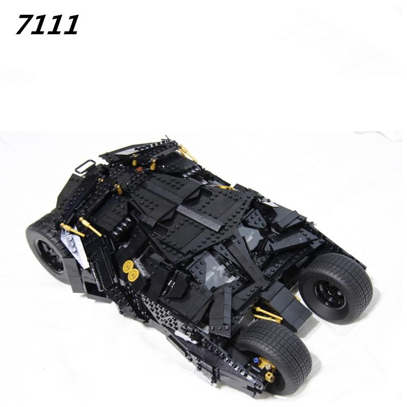 AIBOULLY 7111 Blok Bangunan Pahlawan Super Batman Chariot Tumbler - Mainan bangunan dan konstruksi - Foto 2