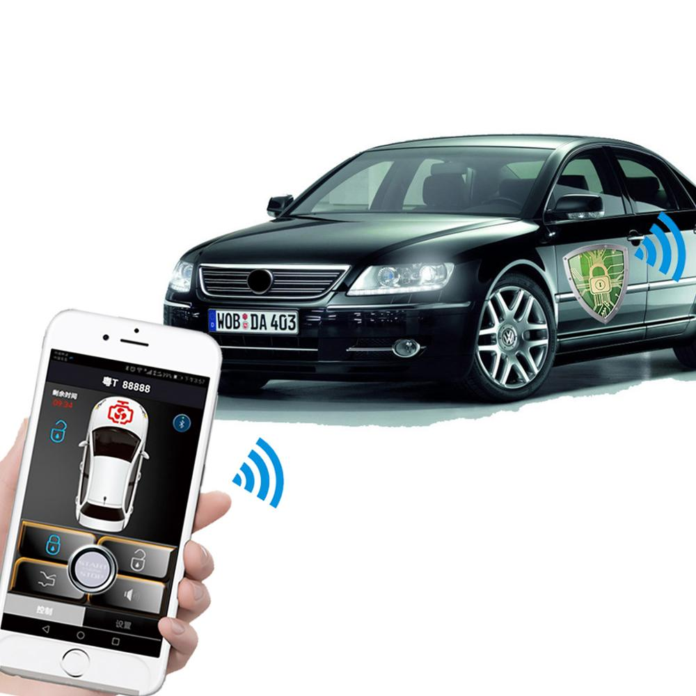 Smartphone car alarm system compatible with  phone car key PKE car(China)
