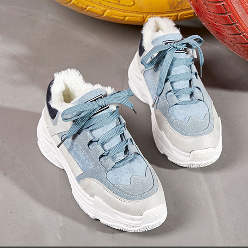 Detail Feedback Questions about New Winter Warmth Women Sneakers Height  Increasing Running Shoes With Fur Female Comfortable Sports Shoes Light  Zapatillas ... a53b34aa04db