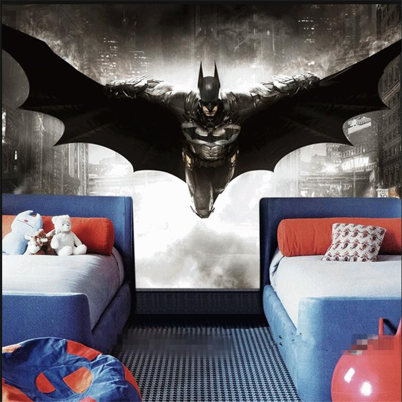 3D Batman wall mural ,Custom wallpaper according to your wall dimensions,The price per one ...
