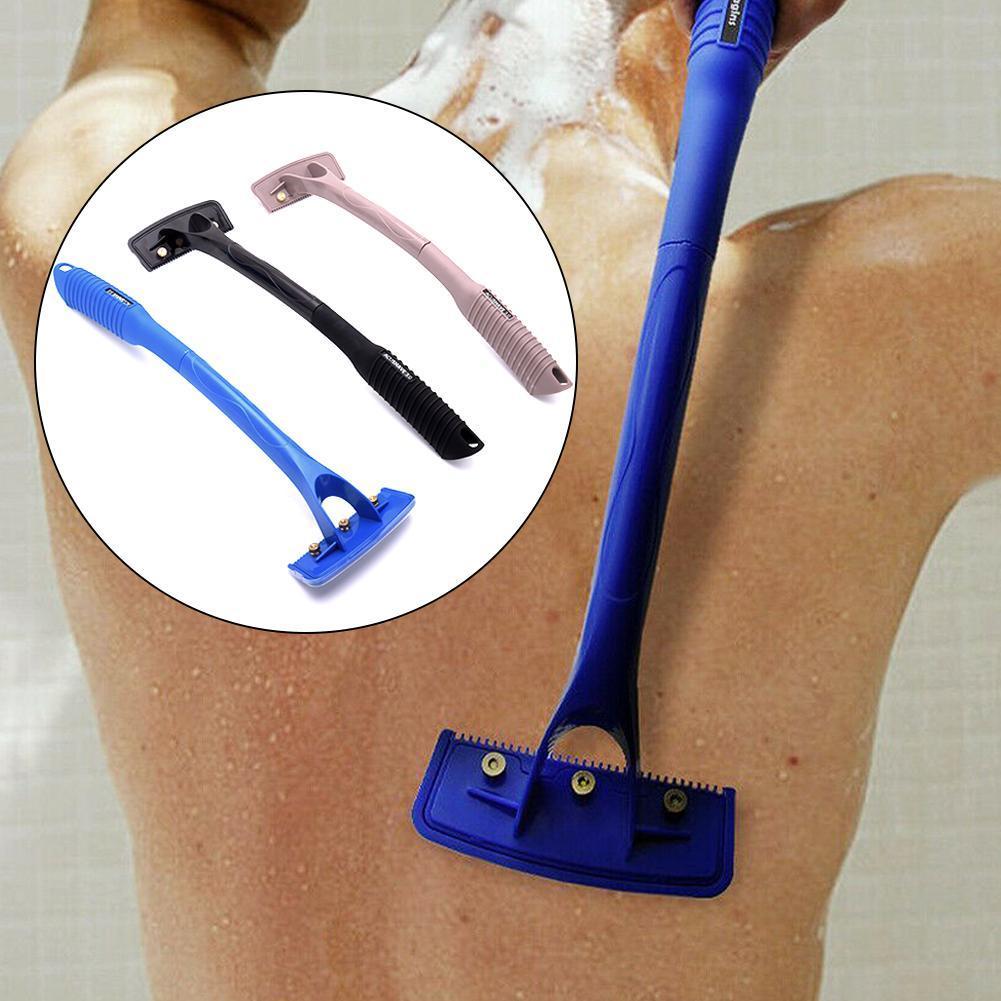 Safety Men Long Handle Folding Shaving Knife Body Shaver Back Hair Trimmer Body Leg Back Razor Shaver Epilator Hair Removal Tool