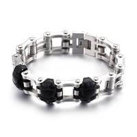 Black personality titanium steel bicycle skeleton bracelet retro trend bike male chain manufacturers straight batch