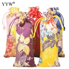 YYW New Arrival Wholesale Chinese Style Fashion Cotton Jewelry Pouches with Nylon Cord for Gift Packing