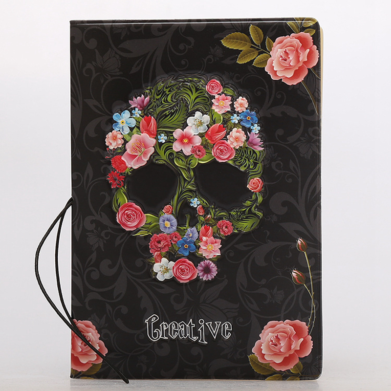 Fashion Rose Flower Passport Cover Wallet Bag Travel Accessories Women PU Leather ID Address Holder Portable Boarding Card Cover