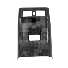 Car Air Conditioning Vent Outlet Cover Trim Armrest Box All Inclusive Rear for Toyota Rav4 Rav 4 Carbon Fiber Style