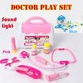 Caja de niños pretend play doctor toys toys set caja de la medicina función play toys educationl juguete kit médico médico clásico para niños