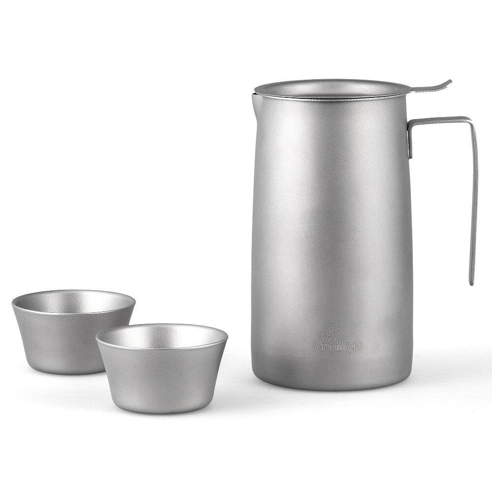 Fire Maple FMP-T320 Ultralight Titanium Pot Two Cups Strainer Make Tea Filter