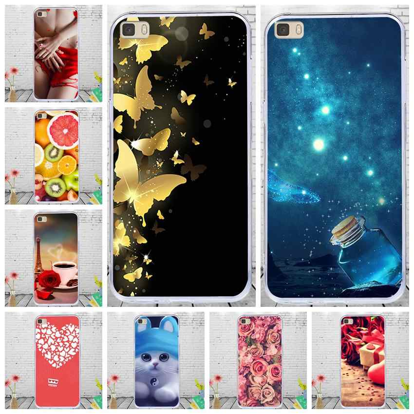 J&R Soft Silicone Phone Cover For Huawei P8 Lite P8Lite Case ALE-L21 ALE-L23 ALE-L04 ALE-L02 ALE L21 L04 L23 L02 Cases Flower
