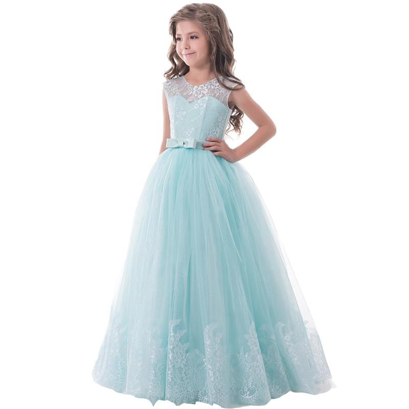 ФОТО 2017 Ball Gown Flower Girl Dress Mint Green Sleeveless O-neck Little Girl Pageant Dresses Kids Wedding Party Dress vestido para