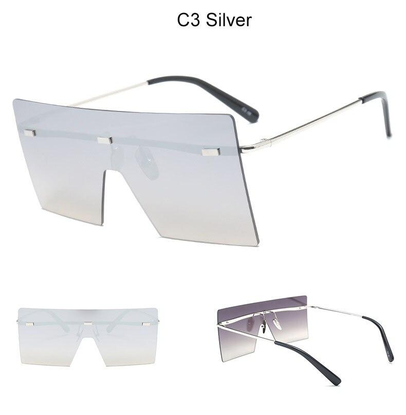 Oculos de Sol Rimless Square Sunglasses