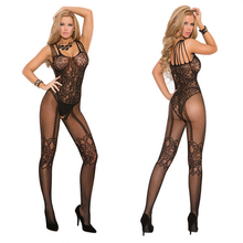 2016 Women Sexy Lingerie Hot Porn Black Crotchless Bodystocking Bodysuit Erotic Lingerie Underwear Open Crotch Sex Costumes 48
