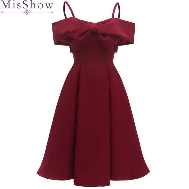 2019 Burgundy Cocktail Dresses off the shoulder Little Black Dress Short Sleeve Homecoming Dress Formal Dress Short Prom Gown