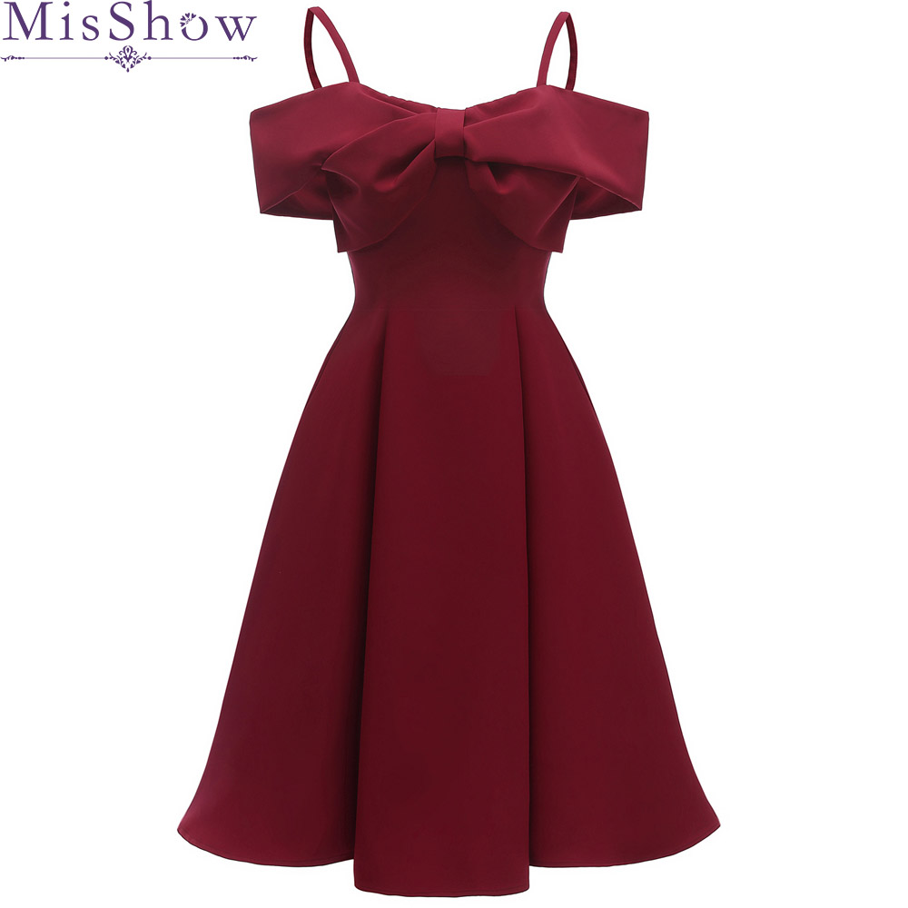 2019 Burgundy   Cocktail     Dresses   off the shoulder Little Black   Dress   Short Sleeve Homecoming   Dress   Formal   Dress   Short Prom Gown