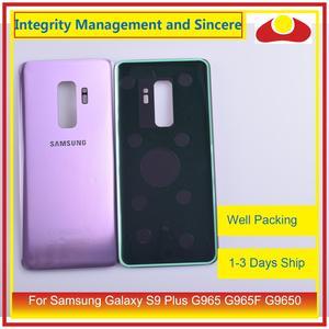 Image 3 - Original para samsung galaxy s9 plus g965 g965f g9650 SM G965F habitação porta da bateria traseira de vidro caso capa chassis escudo