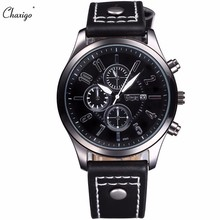 CHAXIGO Luxury Brand Leather Casual Men Sport Design Quartz Military Watches Xfcs Wrist Watch Male Clock Relogio Masculino