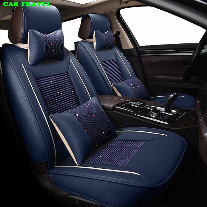 CAR TRAVEL ice silk car seat cover set for Chevrolet sail Kewozi Cruze Malibu Copaci Aveo