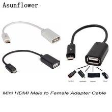 Adaptateur Micro USB mâle vers HDMI femelle OTG sur le Go, câble convertisseur pour appareils photo numériques Samsung Galaxy S6 Edge