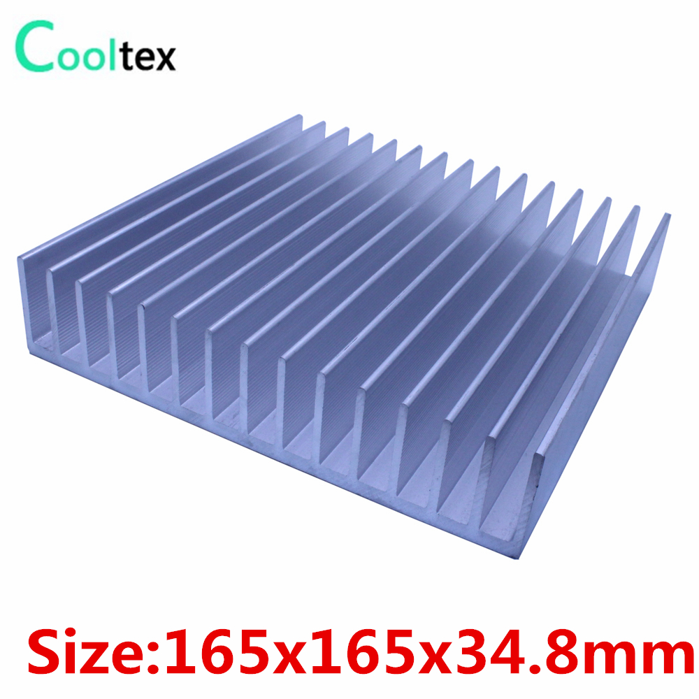 Aluminum heatsink 165x165x34.8mm cooler heat sink radiator for LED Electronic Power Amplifier integrated circuit cooling 1 pcs aluminum radiator heat sink heatsink 60mm x 60mm x 10mm black