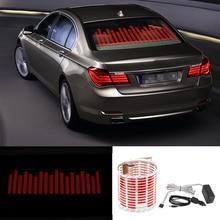 Niscarda Luz LED de Flash de ritmo musical para coche, ecualizador de sonido con Sensor rojo de activación por sonido, pegatina para parabrisas trasero, lámpara de neón con estilo