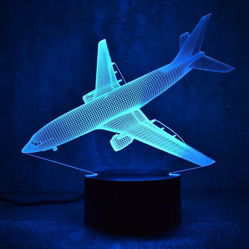 Nouveauté 3D Led Luminaire Coloré Luminaire USB Table Lampe Chevet - Veilleuses - Photo 5