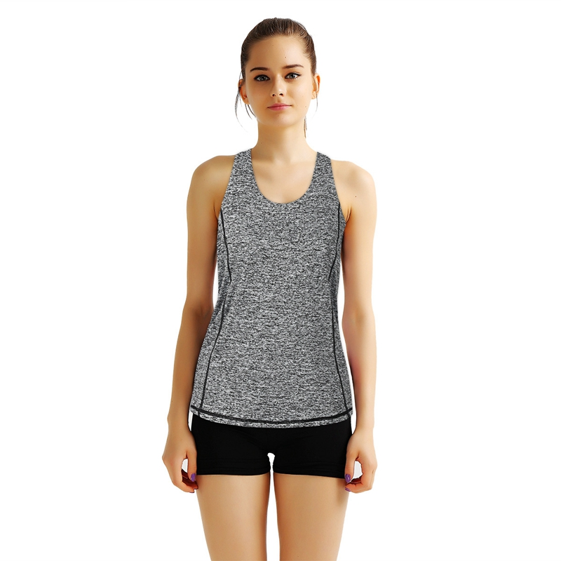 Camisole Women Sleeveless Tank Tops O-Neck Workout Cotton Tops Cross Strap Fitness Clothing Blusas Vest Femme Sport Wear