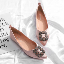 c8563a6d90f2 Women Ballerina Flats Pointed Toe Rhinestone Slip on Dropshipping Women  Loafers Shoes Oxfords Wedding Bridal shoes