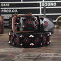 Cowgirl Cintos Punk Rock Rebite Mulheres Cinto de Couro Genuíno Para As Mulheres De Metal Feminino Cinto Largo Cintura Das Calças de Brim Ceinture Fomme MBT0290
