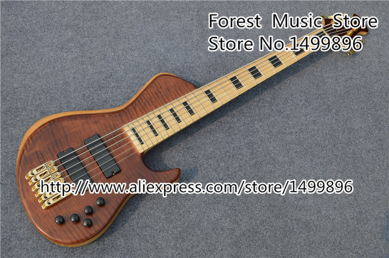 все цены на Custom Shop China 6 String Bass Guitar Maple Fretboard Bass Guitars From China Factory Lefty Available