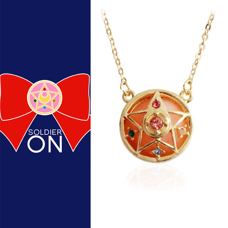 Toy Crystal Sailor-Moon Star Cosplay Pendant-Model Gift-Collection Anime Metal Necklace