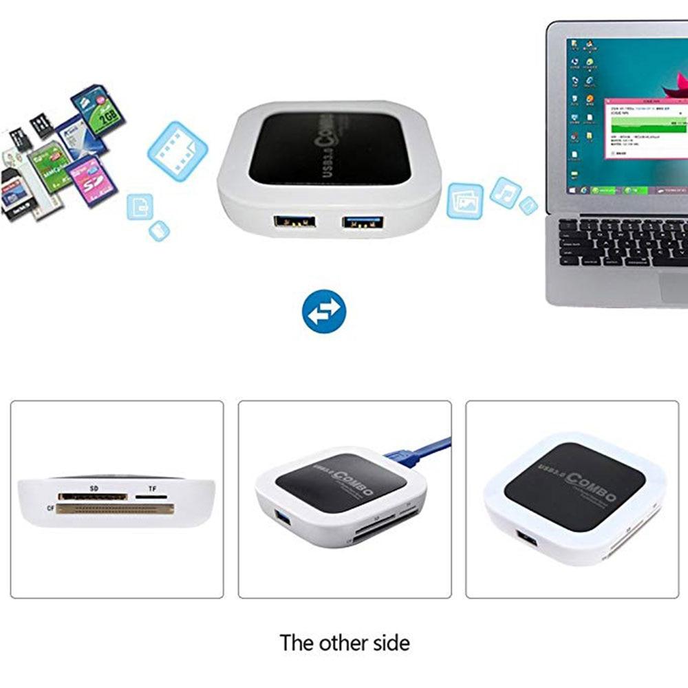 USB 3 0 Hub Card Reader Splitter with 3 Port USB 3 0 HUB and SD TF CF Card slot Function Memory micro sd usb 3 0 card reader in Card Readers from Computer Office