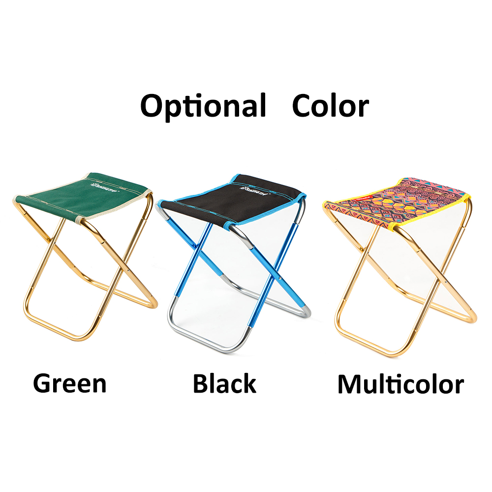 Portable Folding Camping Chair Outdoor Chair Folding Stool 7075 Aluminum Oxford Cloth Fishing Chair with Storage Bag Lightweight bamboo bamboo portable folding stool have small bench wooden fishing outdoor folding stool campstool train