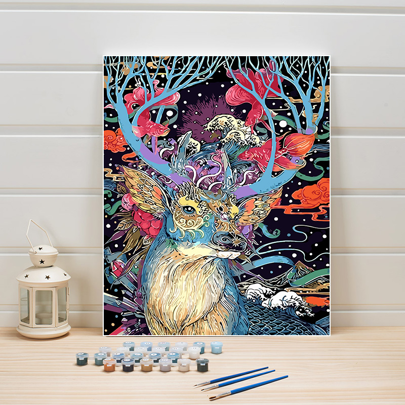 Drawing Paint By Numbers Animal Deer Coloring Digital Module On Canvas Oil Paintings Arts Wall Picture For Living Room Decor Set