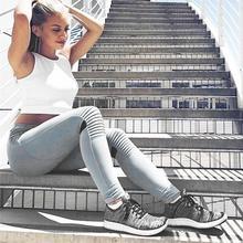 New High-quality Fashionable Elastic Breathable Sports Yoga Pants Knee Pleated Yarn Piecing Casual Leggings sport leggings
