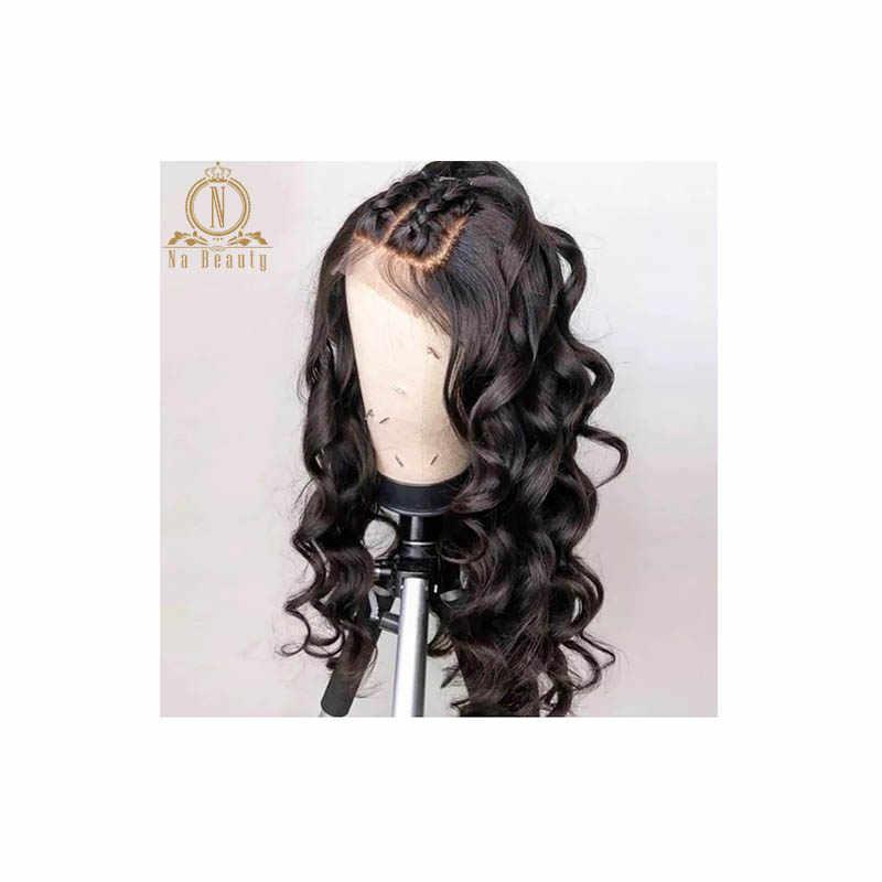 Peluca Frontal de encaje 360 Pre desplumada con pelo de bebé pelucas de cabello humano de onda suelta brasileña para mujer cabello Remy pelucas delanteras de encaje