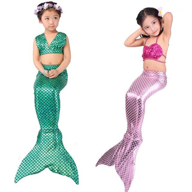 1e5a1f15a1 Menina Cosplay Cauda de Sereia custume Não Era Para Nadar Biquíni Set Sexy  Maiô menina Do